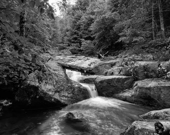 Mountain Stream, Fine Art Photography, Black and White Photography