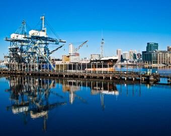 Baltimore Skyline, Unloading at Domino Sugar, Fine Art Photography, Baltimore Art