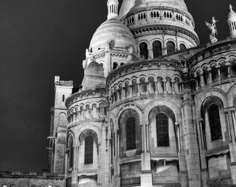 Paris Photography, Sacre Coeur, Black and White Fine Art photography, Paris Decor
