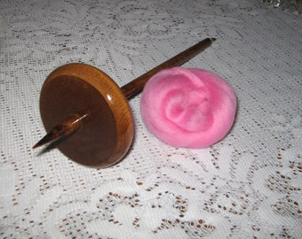 """14"""" Bottom Drop Spindle 2.5oz. And Wool Roving Kit For Hand Spinning Yarn Free Shipping"""