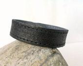 Black  Suede Leather Bracelet /15 mm Wide