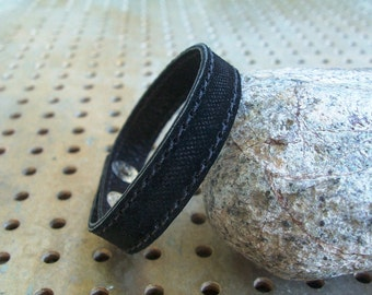 SALE,Black Suede Leather Bracelet