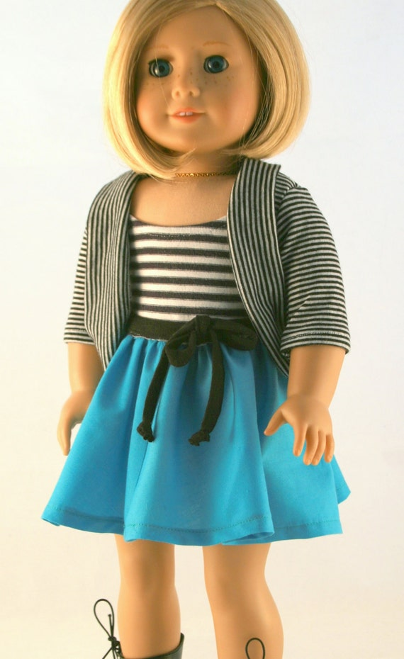 american girl doll clothes original striped dress and. Black Bedroom Furniture Sets. Home Design Ideas