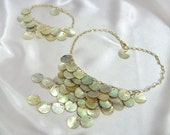 Mother of Pearl Statement Necklace and Bracelet set - Drops of Sun