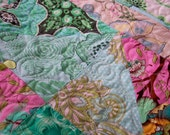 Butterflies, Feathers, and Flowers Quilt for Baby, Toddler, or Lap Quilt