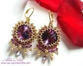 Moroccan style seed bead earrings