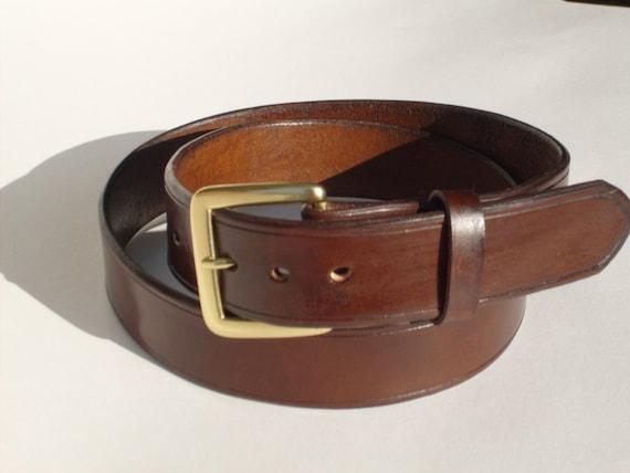 Classic Brown Leather Belt Custom Sized Dress Belt