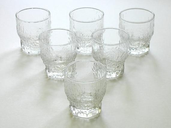 Bar Glasses Set 6 Scandinavian Ice Mid Century Barware