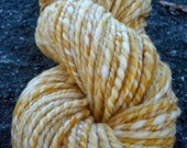 Orange Creamsicle Bulky- Handspun Bulky Weight Fine Wool Yarn