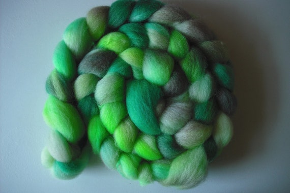 SALE Mother Nature- Blue Face Leicester Wool Roving Spinning Fiber
