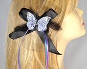 Elegant Pinup Lavender Blue Butterfly Hair Clip