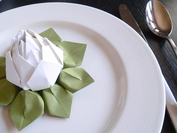 Items Similar To Origami Lotus Flower Table Decoration Or