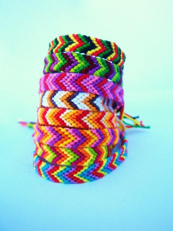 L.A. Raised-8 String Arrows-multi colored Bracelets