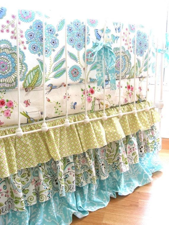Leanika Ruffle Custom Crib Bedding- 50% Deposit for Katie