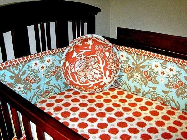 Modern rustic chic custom crib bedding joel dewberry deer - Modern baby girl crib bedding ...