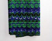 Vintage Modern Fabric - Blue and Green - 1960s