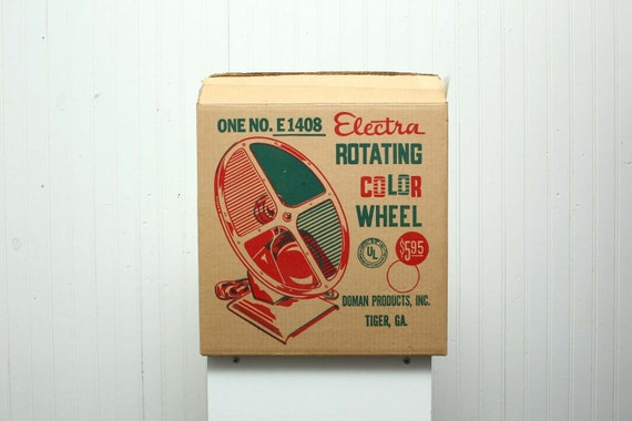 Vintage Aluminum Christmas Tree Rotating Color Wheel Electra