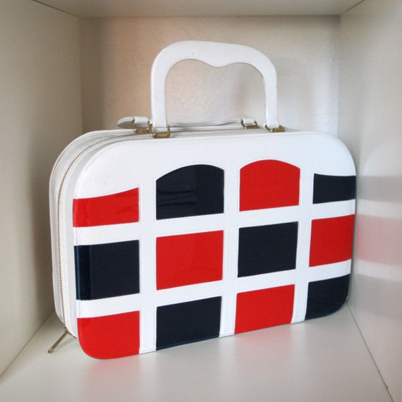Vintage Mod Color Block Purse - 1960s Purse