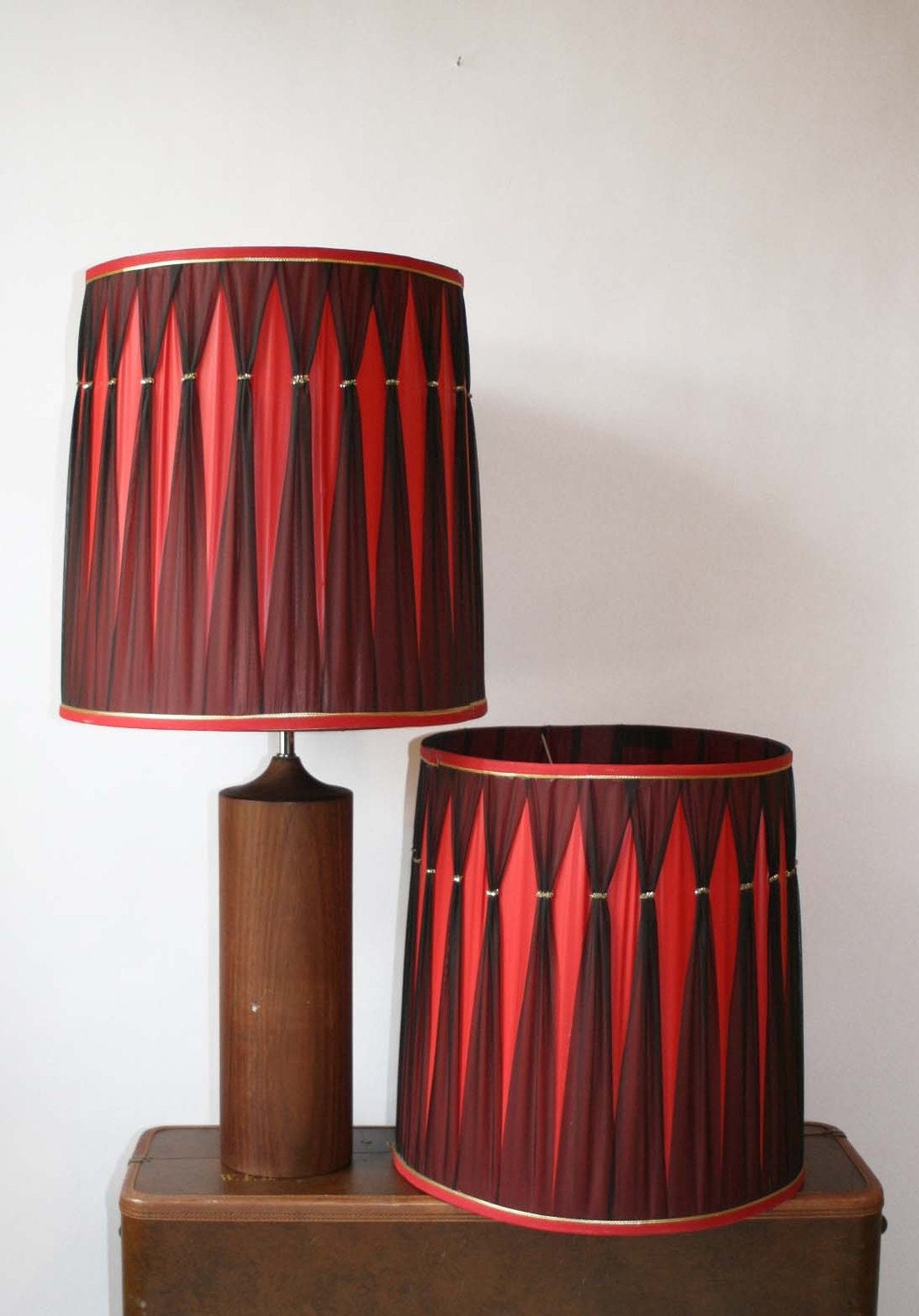 red and black diamond vintage lamp shades. Black Bedroom Furniture Sets. Home Design Ideas