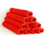Vintage Orange Cotton Fabric  Placemats 10 Placemats