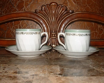 Vintage Cup and Saucers  marked Germany U.S. Zone //259