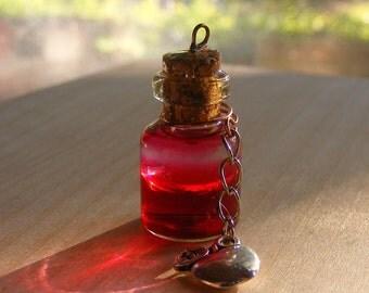 Snow white inspired bottle pendant