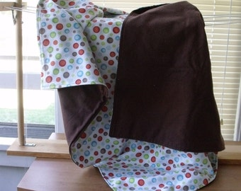 Flannel Receiving Blanket--Two Sided--Custom Made