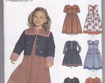 Simplicity 9846 Girls Dress or Jumper Size 3-8