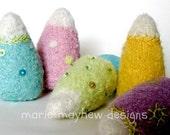PDF-PATTERN. A Knit & Felt Wool Candy Corn Downloadable PDF Pattern