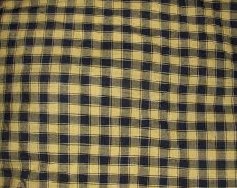1 yard of Black/Gold Homespun Fabric