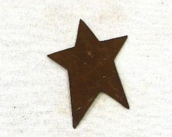 "12- 1"" Rusty Tin Stars - Craft Supplies"