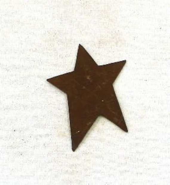 "12- 1"" Rusty Tin Stars - Craft Supplies"