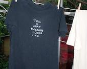 The Daniel - Upcycled Tshirt with Original Screenprint