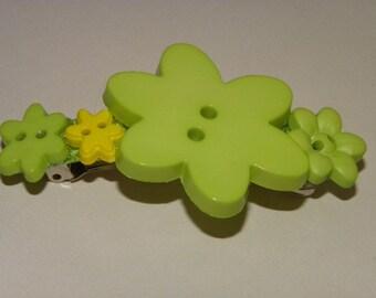 Citrine Flower Barrette