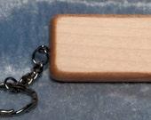 Rectangular Maple wood Keychain, FREE Custom Engraving