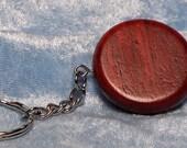 keychain, rosewood, round, FREE custom engraving