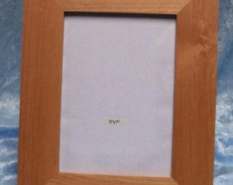 photo frame, for 5 x 7 photo, alder wood, FREE custom engraving