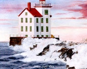 Lorain Lighthouse on Lake Erie 6x6 Tile