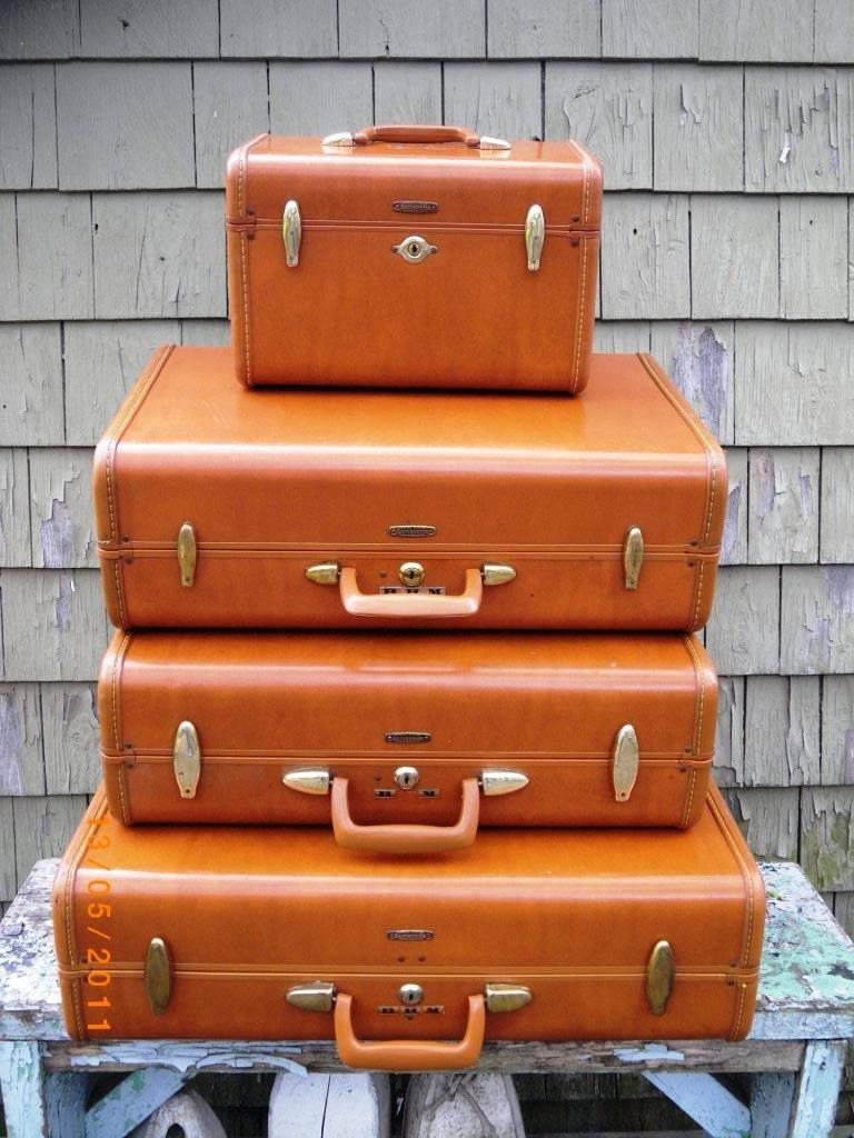 Vintage Mid Century Samsonite Luggage Set Of Four 3