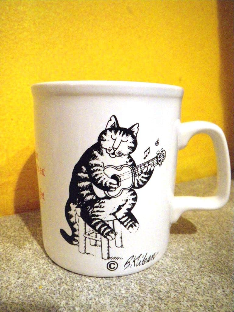 Vintage B Kliban Cat Mug Love To Eat Them Mousies By Moxiekin
