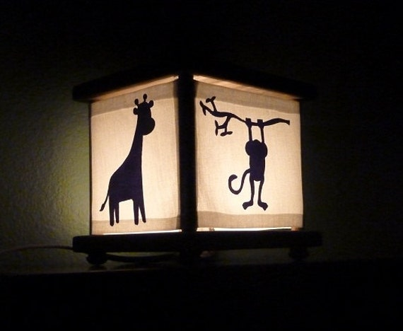 Monkey Jungle Safari Lamp Lantern Nightlight Night Light In