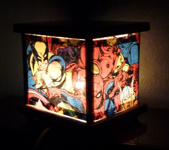 Super Hero Lamp Lantern Night Light Nightlight Spiderman The Hulk Thor Captain America