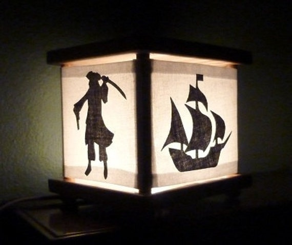 Pirate Lamp Night Light Lantern Ship Octopus Squid Skull and Crossbones Lamp