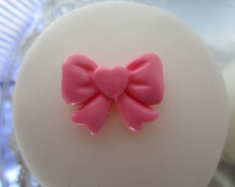 edible sugar bows color of your choice set of 10