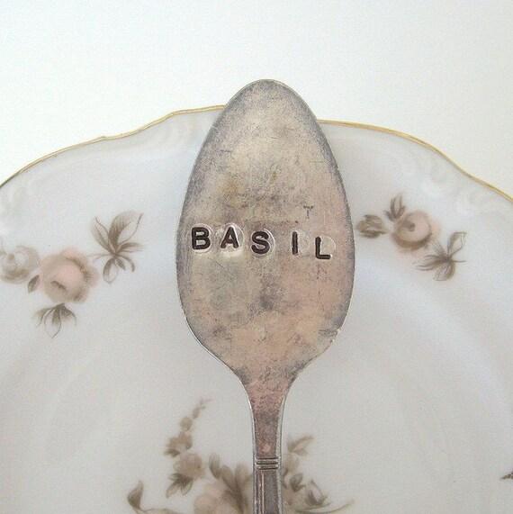 5 antique spoon garden markers set