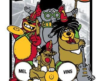 Melvins silkscreen concert poster.