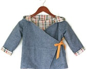CUSTOM Reversible Kimono Jacket for Boys or Girls - Baby or Children  - Made to Order