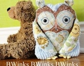 Stuffed Owl Pillow - Owl Stuffed Decor - Last One - No. 54