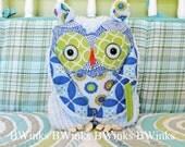 READY to Ship PETITE - Stuffed toy Owl Friend - Ocean - Last One