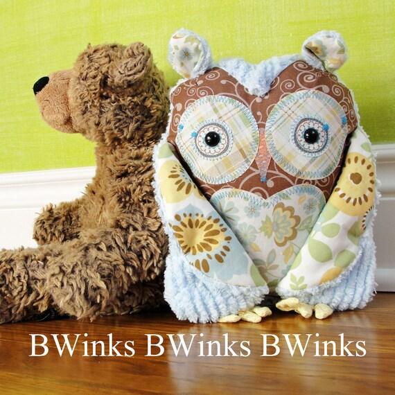 Stuffed Owl Pillow - Owl Stuffed Decor - Last One - No. 54